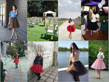 5-Layer 60 cm  Pleated Tutu Tulle Skirt (Many Colors)