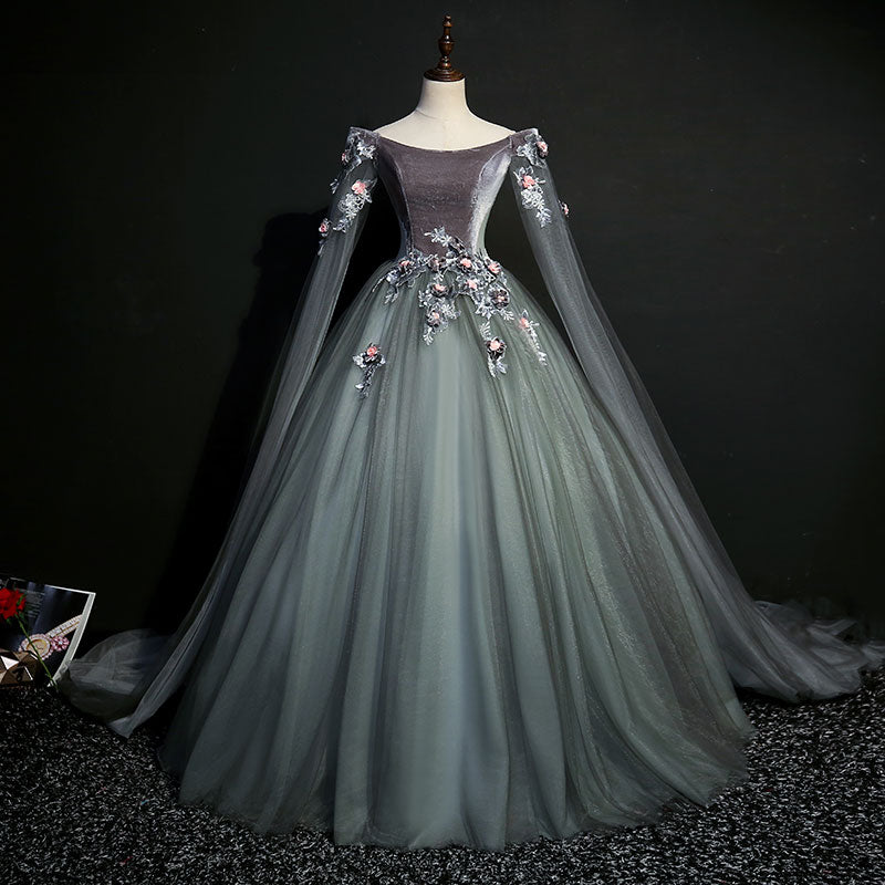 Dark Grey 18th Century Inspired Rococo Gown – A Lark And A Lady