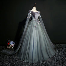 Dark Grey 18th Century Inspired Rococo Gown