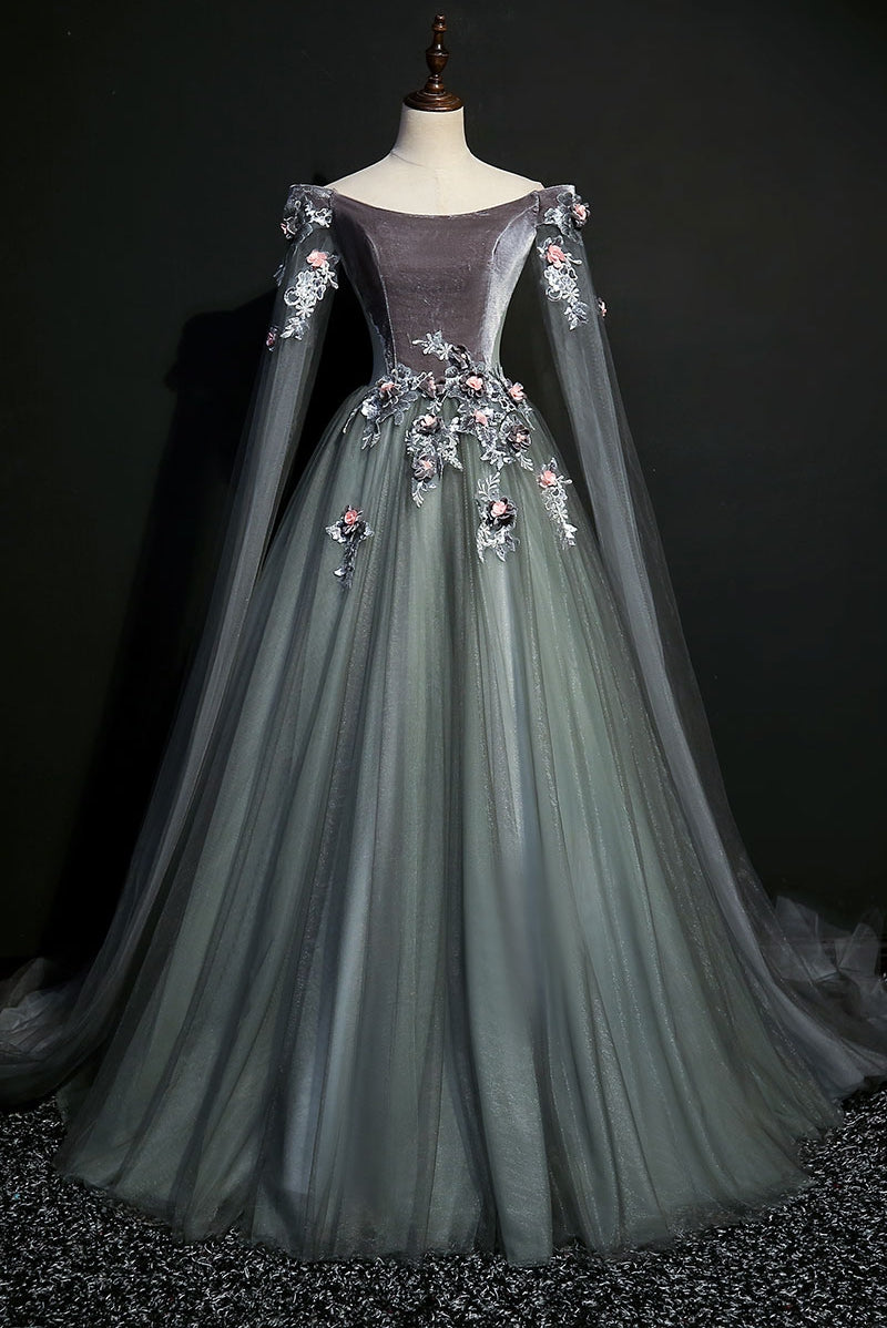 Dark Grey 18th Century Inspired Rococo Gown A Lark And A