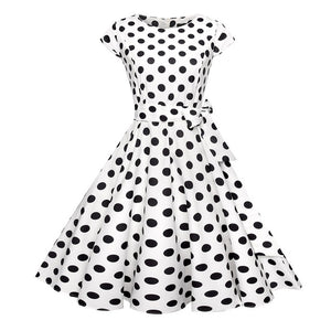 50's Vintage Elegant Floral Print Rockabilly Dresses (Multiple Patterns)