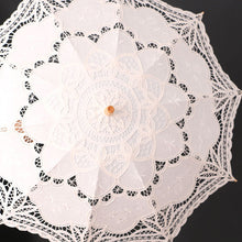 Handmade Umbrella for Brides / Bridesmaid or Period Photoshoots (Black, White and Beige)