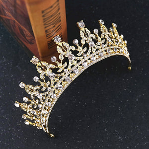 Gold & Rhinestone Bridal Crown