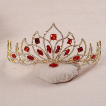 Colored Crystal Lotus Crown (Red / Green / Blue / White)