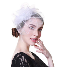 Fascinator Hats - Flower, Mesh Ribbons & Feathers (Multiple Styles & Colors)