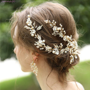 Handmade Delicate Floral Vine Prom / Bridal Hair Clips with Matching Earrings or Sold Separately