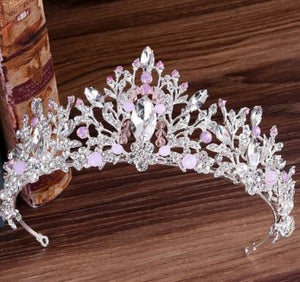 Baroque Luxury Rhinestone Bridal or Quinceaneara Tiaras (10 styles)