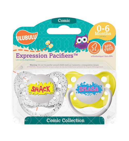 Smack & Splash Pacifiers 0-6M Pacifiers (Double Pack)