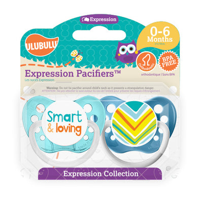 Smart and Loving 0-6M Pacifiers (Double Pack)