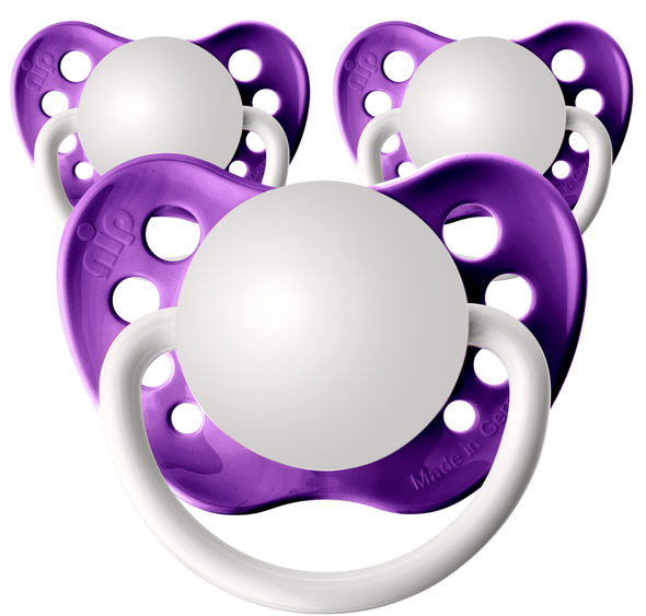 Grape Purple Personalized Pacifiers 3 Pack
