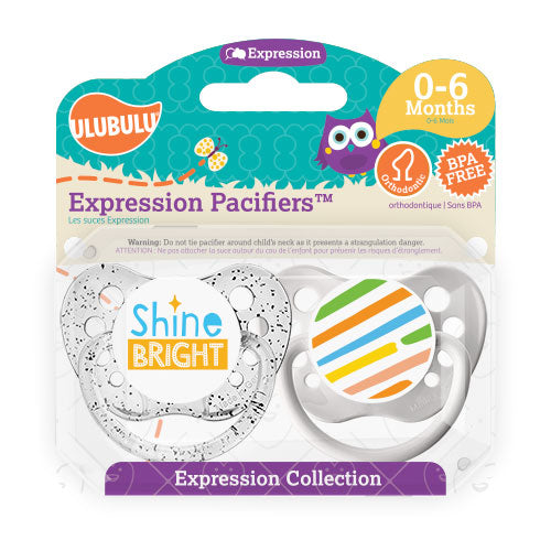 Shine Bright 0-6M Pacifiers (Double Pack)