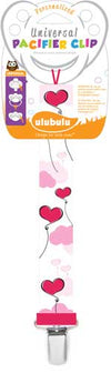 Heart Balloon Universal Pacifier Clip