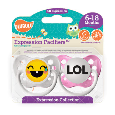 LOL Emoji 6-18M Pacifiers (Double Pack)