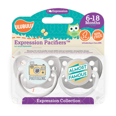 Photogenic & Almost Famous 6-18M Pacifiers (Double Pack)