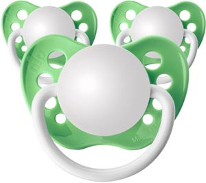 Pastel Green Personalized Pacifiers 3 Pack