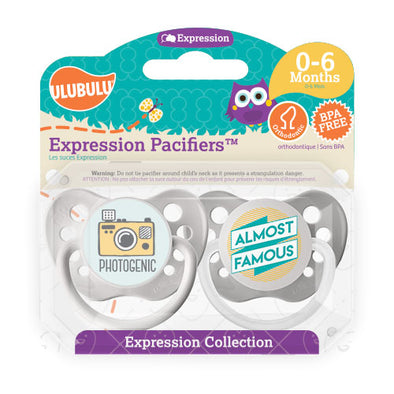 Photogenic & Almost Famous 0-6M Pacifiers (Double Pack)