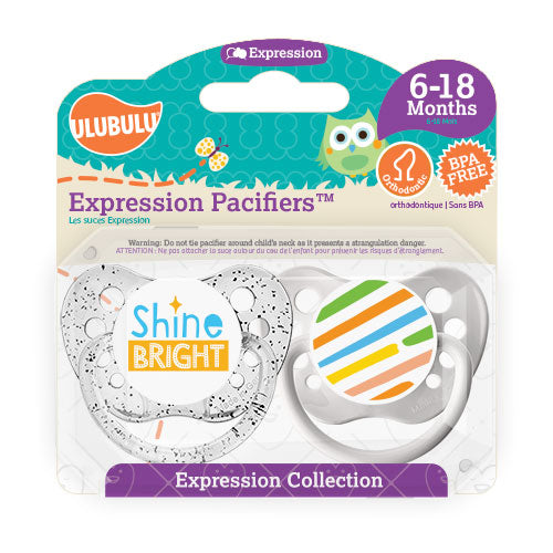 Shine Bright 6-18M Pacifiers (Double Pack)