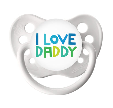 I Love Daddy - White Pacifier