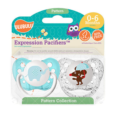 Elephant & Mouse 0-6M Pacifiers (Double Pack)