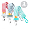 Muted Neutral Pattern Combo pack of 3 Pacifier Clip