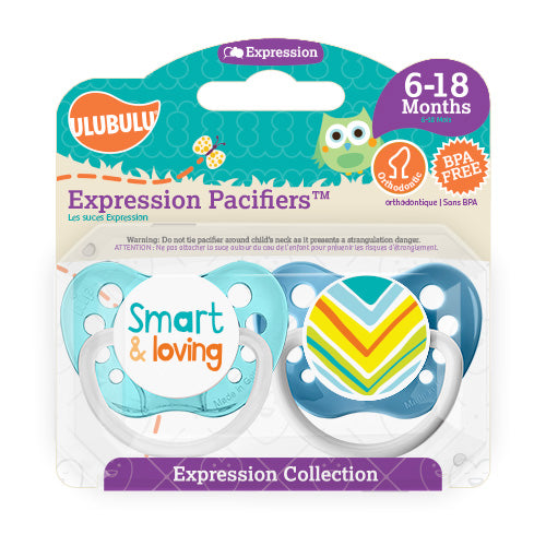 Smart and Loving 6-18M Pacifiers (Double Pack)