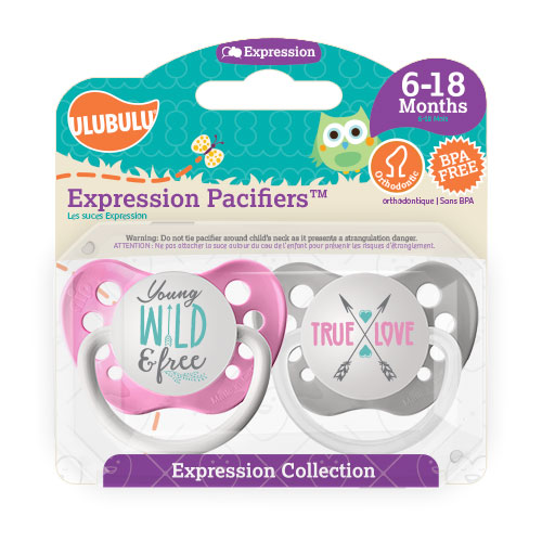 Young Wild and Free & True Love 6-18M Pacifiers (Double Pack)