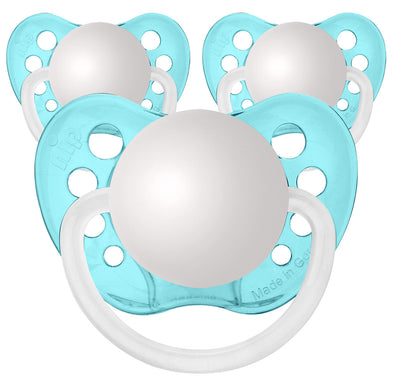 Transparent Blue Pacifiers