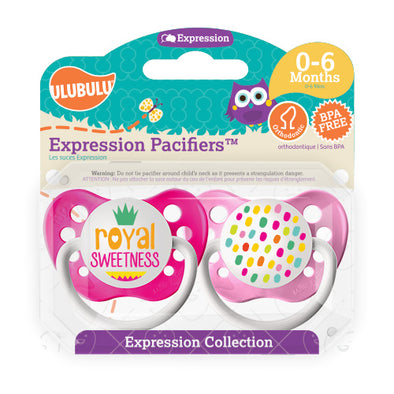 Royal Sweetness 0-6M Pacifiers (Double Pack)