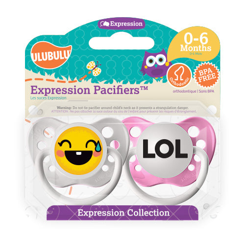 LOL Emoji 0-6M Pacifiers (Double Pack)