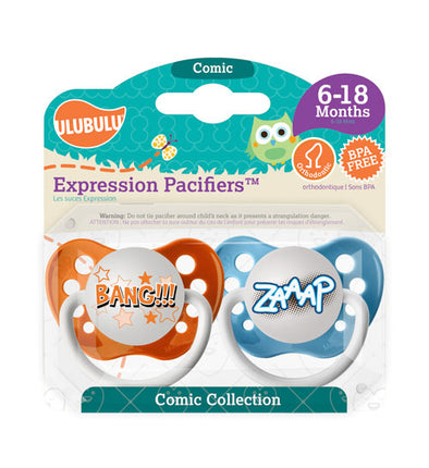 Bang & Zaap Pacifiers 6-18M Pacifiers (Double Pack)
