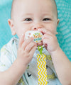 My First Easter & Easter Waves Pacifiers and Yellow Chevron Pacifier Clip Bundle