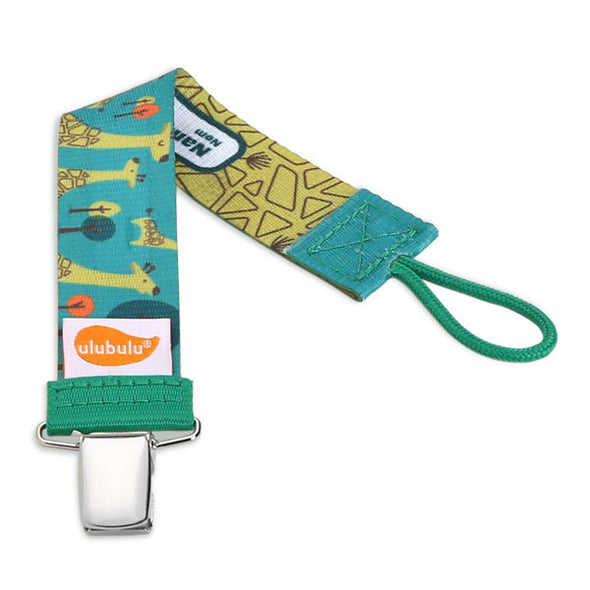 Green Giraffe Personalized Pacifier Clip