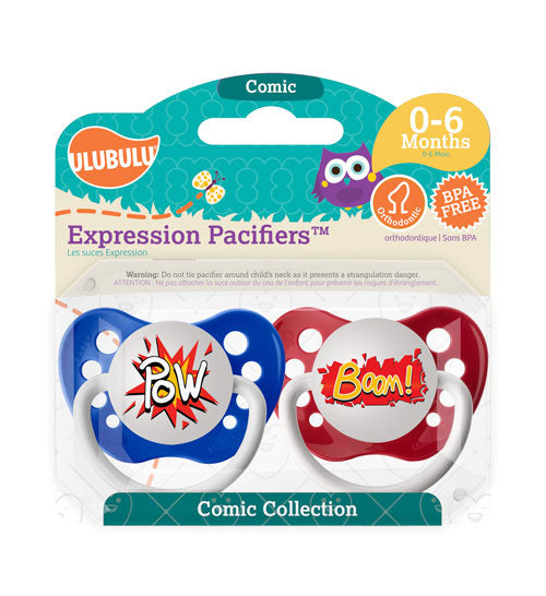 Pow & Boom Pacifiers 0-6M Pacifiers (Double Pack)