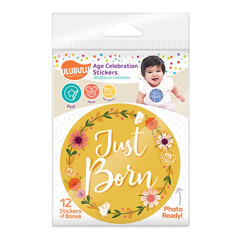 Wild Flower Design Age Celebration Stickers