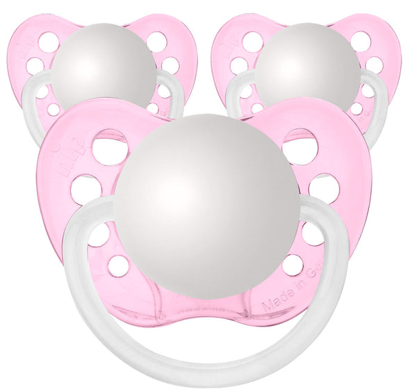 Transparent Pink Pacifiers
