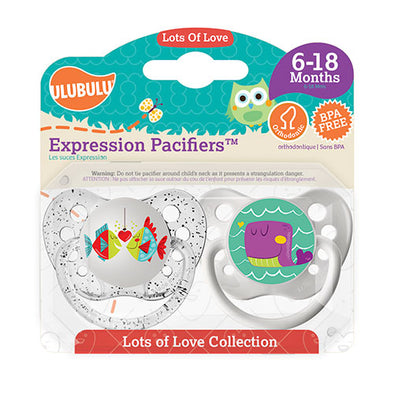 Fish & Whale 6-18M Pacifiers (Double Pack)