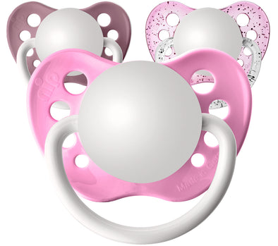 All Pinks Personalized Pacifiers 3 Pack