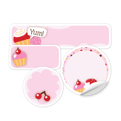 Personalized Cupcakes Daycare Labels