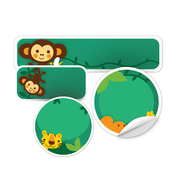 Personalized Jungle Daycare Labels