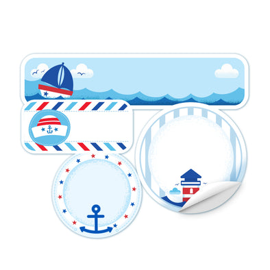 Personalized Nautical Daycare Labels