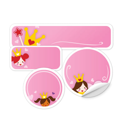 Personalized Princess Daycare Labels