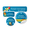 Personalized Robots Daycare Labels