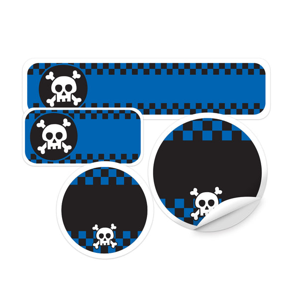 Skull Blue Daycare Labels