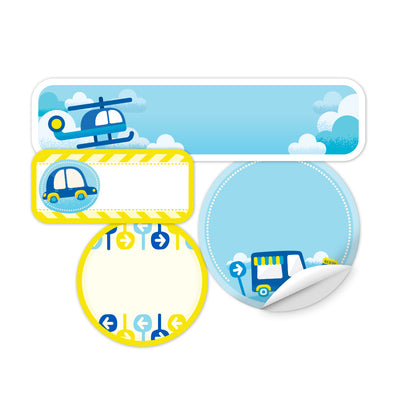 Personalized Transportation Daycare Labels