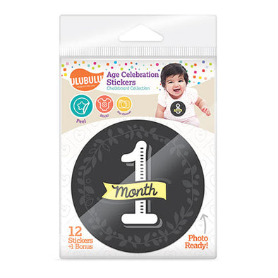 Chalkboard Design Age Celebration Stickers