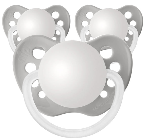 Gray Personalized Pacifiers 3 Pack