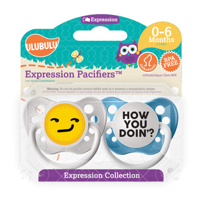 How you Doin' Emoji 0-6M Pacifiers (Double Pack)