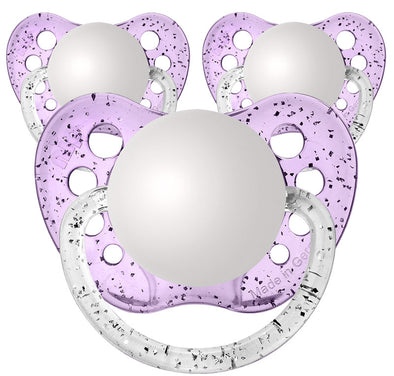 Glitter Purple Newborn Pacifiers
