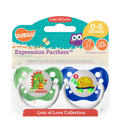 Dragon & Turtle 0-6M Pacifiers (Double Pack)