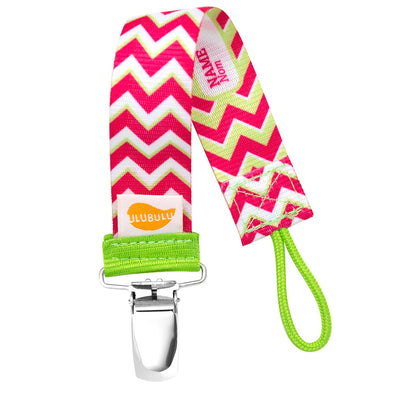 Pink Chevron Universal Pacifier Clip